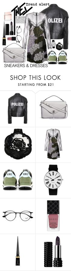 """Dahlia Noir"" by tag-noheuer ❤ liked on Polyvore featuring Vetements, Rebecca Minkoff, Anna Sui, Nina Ricci, NIKE, Rosendahl, Ray-Ban, Gucci, Christian Louboutin and Kat Von D"