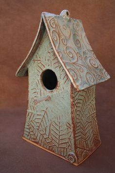 Ceramic Pottery Bird House Birdhouse by CaliforniaSoulshine, $79.00