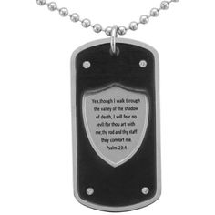 Unending Love Stainless Steel Men's 1/10ct TDW Diamond Dog Tag... ($38) ❤ liked on Polyvore featuring men's fashion, men's jewelry, men's necklaces, white, mens dog tag necklace, mens diamond pendants, mens chains, mens beaded necklaces and mens chain pendants