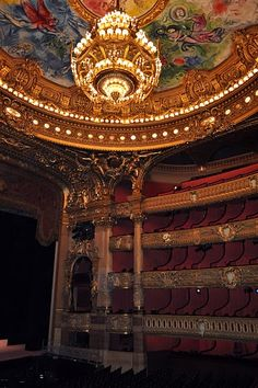 Garnier Opera House, Paris, France...being here in person gave me chills...now I want to go back for an opera!