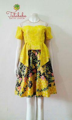 Pretty Batik Kebaya, Batik Dress, Diy Fashion, Fashion Dresses, Womens Fashion, Model Kebaya, Dress Pesta, Ethnic Dress, Green Dress