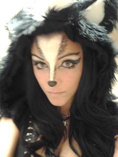 Skunk makeup