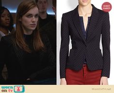 Jemma's printed blazer on Agents Of SHIELD. Outfit Details: http://wornontv.net/24968 #AgentsofSHIELD #fashion
