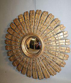 Glace / miroir soleil avec oeil de sorcière Diamètre 31 cm