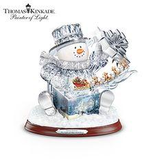 Thomas Kinkade The Gift Of The Holidays Sculpture