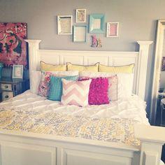 Beautiful bedroom closeup