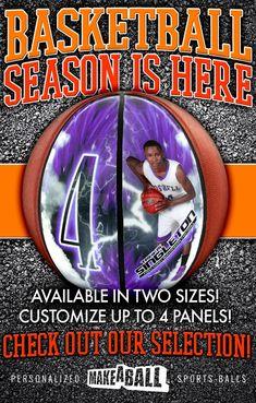 GREAT DEALS on Custom Basketballs! Head to makeaball.com to start designing.
