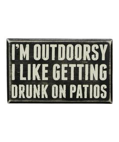 Primitives by Kathy Outdoorsy Box Sign | zulily