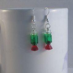 Jewel light dangle earrings made from Lego by MooseintheMint