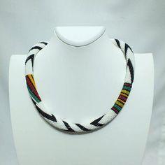 Beaded crochet rope necklace beaded от elegantaccessoryshop
