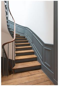 Ideas Painted Furniture Designs Inspiration Colour For 2019 Victorian Stairs, Beautiful Stairs, Staircase Makeover, Hallway Designs, Painted Stairs, House Stairs, Attic Stairs, Interior Stairs, Staircase Design