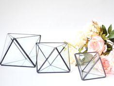 Octahedron 3 sizes / Geometric Glass Terrarium / by DecoRiteRu