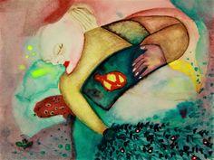 Abstract Portrait, Abstract Art, Main Theme, Gel Pens, Neon Yellow, My Works, Saatchi Art, Sleeping Beauty, Original Paintings