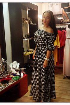 Платье барбара 42 красный белый горох шт