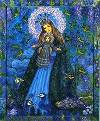 Polish Madonna: Mother of God in Blue by Wislawa Kwiatkowska