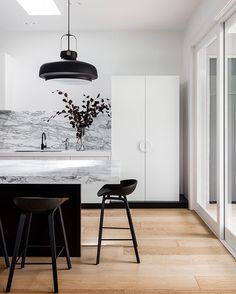 """210 Likes, 4 Comments - IN/OUT by Arent&Pyke (@arentpyke_inout) on Instagram: """"Our Hooper House project uses a palette of bright whites and black. The design aligns a…"""""""