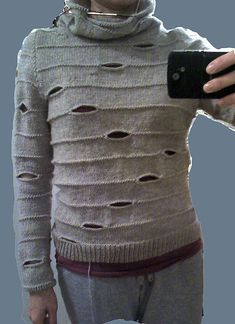 Love this sweater pattern -- gotta work up the nerve to knit it and wear it with pride.