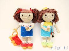 Best Friends - crochet dolls - pattern