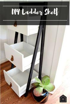 DIY Ladder Shelf Gets a Modern Update
