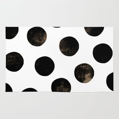 Black+Polka+Dots+Rug+by+Georgiana+Paraschiv+-+$28.00