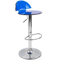 The Alfonso Gas Lift Bar Stool in Blue.