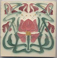 Super rare  Morialme  Florales  Ornament  Jugendstil Fliese  art nouveau  tile