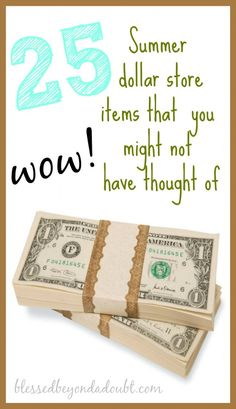 Our favorite summer dollar store items! Is yours on the list?