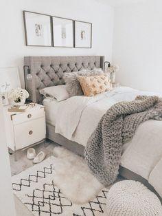 Bedroom Ideas For Teen Girls, Teen Girl Bedrooms, Room Ideas Bedroom, Home Decor Bedroom, Modern Bedroom, Master Bedroom, 60s Bedroom, Bedroom Romantic, Contemporary Bedroom
