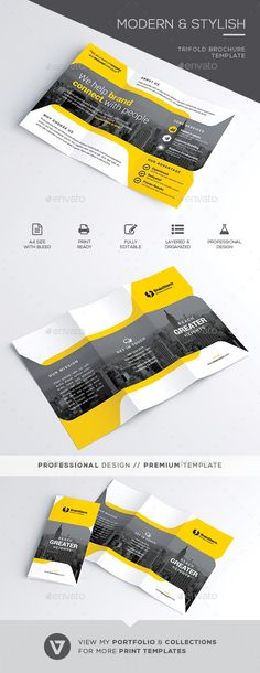 Trifold Brochure by verazo Stylish & Modern Business Trifold Brochure Template A highly versatile corporate trifold brochure suitable for all business indust