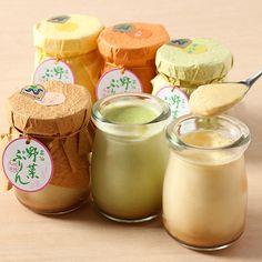 長崎県産の原材料を使用した旅館の手作りスイーツ。【雲仙野菜ぷりん】