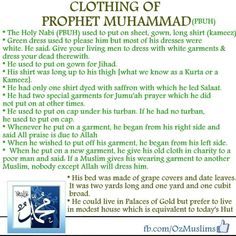 Clothing of Prophet Mohammed (pbuh)