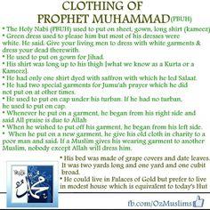 Clothing of Prophet Mohammed (pbuh)