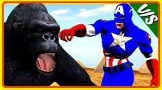 Captain America Color Cartoon Finger Family Children Nursery Rhymes | Ca...