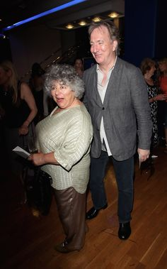 July 2, 2009 - Actors Miriam Margolyes [aka Professor Sprout] and Alan Rickman attend the UK Film premiere of Skin in aid of FilmAid International at Odeon Leicester Square in London, England.