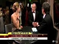 She is SERIOUSLY ADORABLE.   Jack Nicholson Interrupts Jennifer Lawrence Interview. She is so funny! i love the look on her face