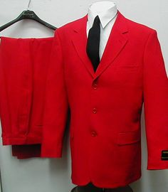 New Men's Single Breasted Red Dress Suit All Sizes | eBay