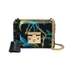 6fc86716024 GUCCI Tropical Print Padlock Shoulder Bag ($1,630) ❤ liked on Polyvore  featuring bags,