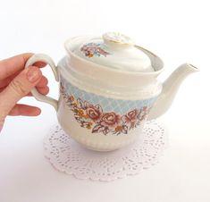 Porcelain Teapot, Home Decor, Soviet Vintage