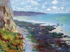 via All sizes | 1882 Claude Monet Cliff near Dieppe(private collection)(58,5 x 78,7 cm) | Flickr - Photo Sharing!)