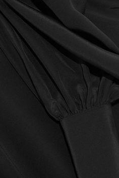 Bassike - Silk Crepe De Chine Turtleneck Top - Black - 2
