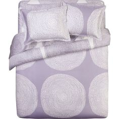 In LOVE with this bedding!  Marimekko Pippurikera Wisteria Bed Linens in All Decorative Bedding | Crate and Barrel