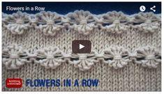 motif fleur au tricot (tutoriel gratuit - DIY)