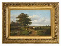 Verwée/Verboeckhoven, Landschaft mit Hirte, Mitte 19. Jh.