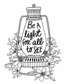 Be a light for all to see