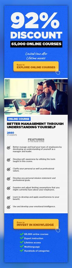 Better management through understanding yourself Management, Business #onlinecourses #onlinetrainingexercise #onlineeducationlearning  Learn how to manage and lead a team through first knowing and understanding yourself as a manager. One of the most complicated and challenging tasks facing any manager, new or experienced, is managing people.   Getting a team of distinctly diverse employees to co...