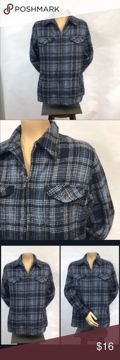"""NWT Fashion Bug Medium Plaid Jacket 20.5"""" armpit to armpit, 26"""" long 55% Wool  T-Shirt type material lining 4 front pockets New with tags, has spare Button attached Fashion Bug Jackets & Coats"""