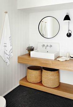 Belle salle de bain, claire et lumineuse #salledebain #déco #décoration #SDB #home