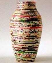 ovins designs: Rolled paper  vase