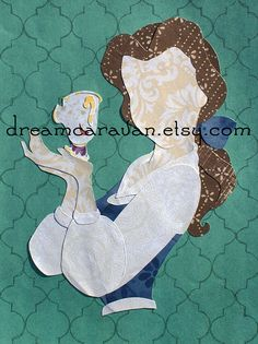 READY TO SHIP Paper Princess Profile: Belle with by dreamcaravan