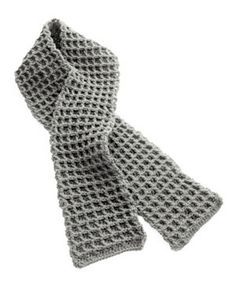 Waffle Stitch Thermal Scarf By Lion Brand Yarn - Free Crochet Pattern - For Additional Projects See http://www.ravelry.com/patterns/library/waffle-stitch-thermal-scarf - (lionbrand)